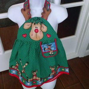 Handcrafted Little Girl Holiday Apron